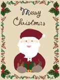The Santa and gifts.Merry Christmas card. royalty free illustration