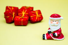 Santa and gifts Royalty Free Stock Images
