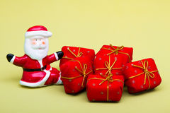 Santa and gifts Stock Image