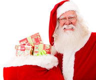 Santa with gifts in a sack Royalty Free Stock Images