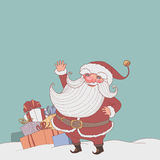 Santa and gifts Royalty Free Stock Photos
