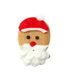 Santa gingerbread cookie isolated Stock Image