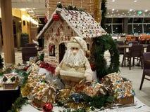 Santa and Gingerbread royalty free stock photography