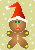 Santa Gingerbread Man Stock Photography