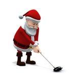 Santa gioca il golf 2 Fotografia Stock Libera da Diritti