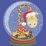 Santa Giraffe ilustración del vector