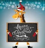 Santa Giraffe stock de ilustración