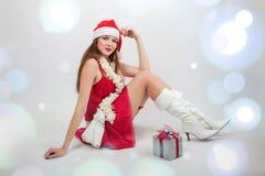 Santa Girl Imagem de Stock
