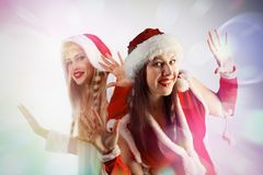 Santa Girl Fotografia de Stock