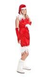 Santa girl. Beautiful santa girl with cute little santa dress Royalty Free Stock Photo