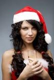 Santa girl Stock Images