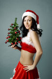 Santa girl Stock Photos