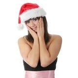 Santa-girl Stock Photos