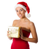 Santa girl Royalty Free Stock Photography
