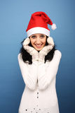 Santa girl Royalty Free Stock Images