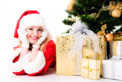 Santa girl Royalty Free Stock Image