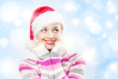 Santa girl Royalty Free Stock Photos