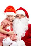 Santa with girl Stock Image