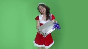 Santa Girl stock video