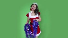 Santa Girl stock videobeelden