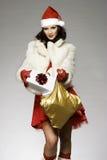 Santa girl Royalty Free Stock Image