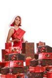 Santa-girl Stock Photography