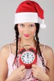 Santa-girl Stock Image