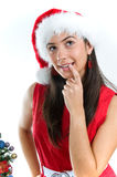 Santa Girl Stock Photo