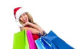 Santa girl Stock Photo