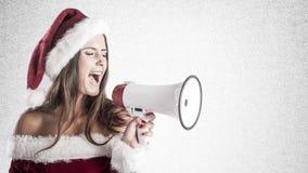 Santa Girl Photographie stock libre de droits