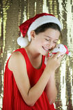 Santa Girl Foto de Stock Royalty Free