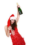 Santa girl Stock Images