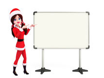 Santa Girl Character with Royalty Free Stock Photo