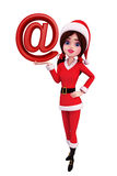 Santa Girl Character with at the rate Royalty Free Stock Images