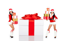 Santa girl creative design Stock Photo