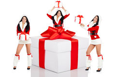 Santa girl creative design Royalty Free Stock Photo