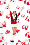 Santa girl creative design Royalty Free Stock Photography