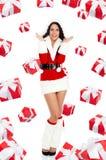 Santa girl creative design Stock Images