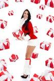 Santa girl creative design Stock Photography