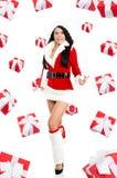 Santa girl creative design Royalty Free Stock Photography