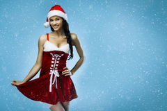 Santa girl fantasy Royalty Free Stock Photography