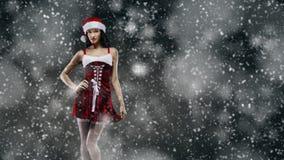 Santa girl fantasy Stock Photo