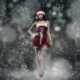 Santa girl fantasy Stock Photography