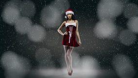 Santa girl fantasy Royalty Free Stock Images