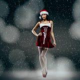 Santa girl fantasy Royalty Free Stock Photo