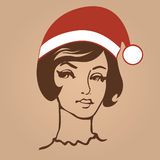 Santa girl  illustration Royalty Free Stock Photography