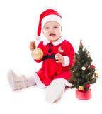 Santa girl isolated royalty free stock image