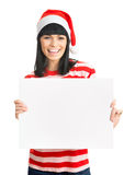 Santa girl isolated on white background. Stock Image