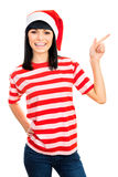 Santa girl isolated on white background. Stock Images