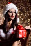 Santa Girl joven atractiva Imagen de archivo libre de regalías